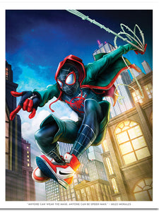 """Miles Morales"" by Dominic Glover - PAPER & CANVAS AVAILABLE"