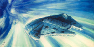"""Millennium Falcon in Hyperspace"" by Christopher Clark - PAPER & CANVAS AVAILABLE"