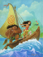 "Load image into Gallery viewer, ""Moana Knows the Way"" by Tim Rogerson"