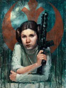 """Princess of Rebels"" by Christopher Clark 21""x28"" ORIGINAL OIL ON WOOD PANEL"