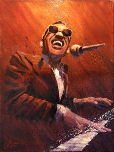 """Ray Charles"" by Christopher Clark - PAPER & CANVAS AVAILABLE"