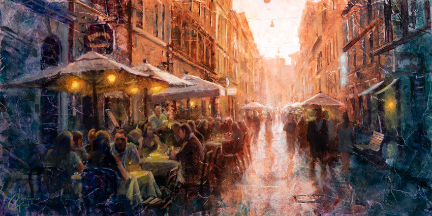 Outdoor Cafes in Rome by Christopher Clark