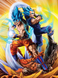 """Saiyan Saviors"" by Dominic Glover - PAPER & CANVAS AVAILABLE"