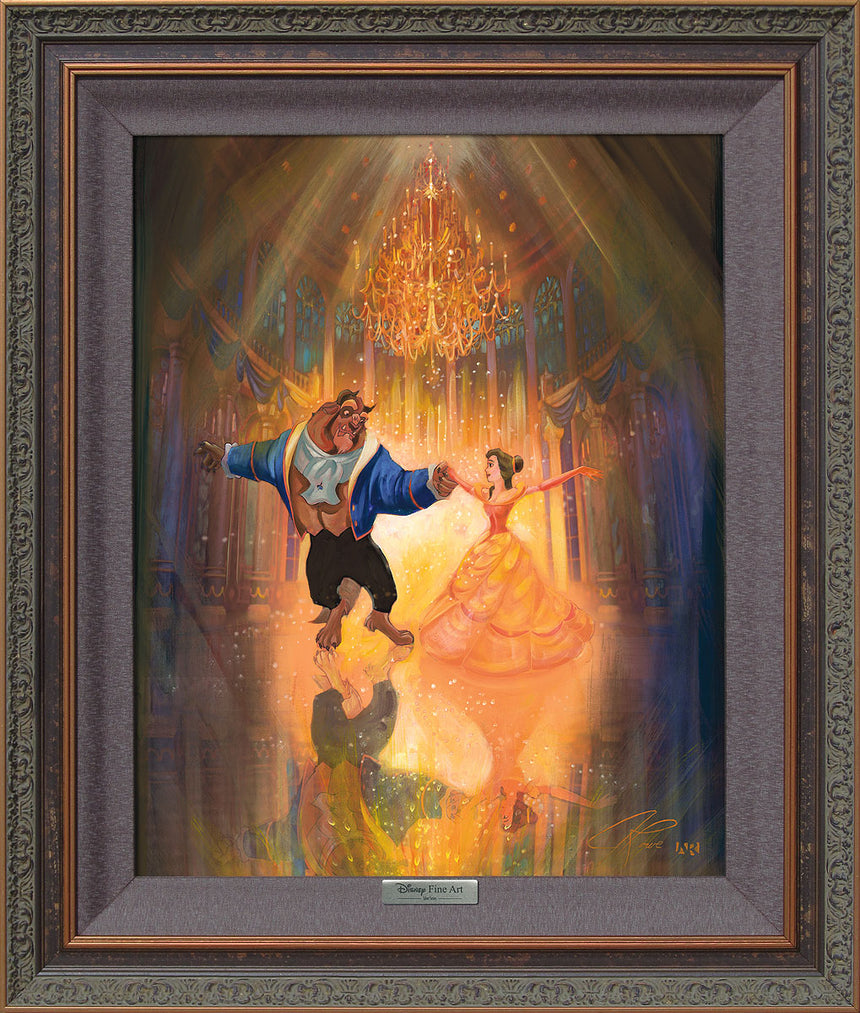 The Perfect Dance by John Rowe Framed Canvas