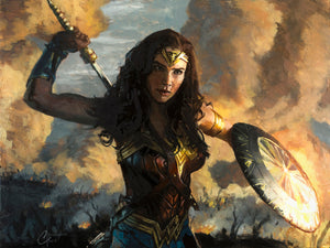 """Wonder Woman Scorched Earth"" By Christopher Clark"