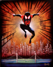 "Load image into Gallery viewer, ""Miles Morales"" Original 20""x16"" Graffiti Art by Ash Schultz"