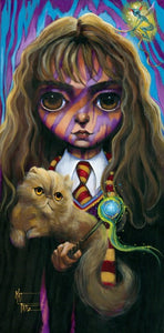 """Big Eye Hermione Granger"" by Kat Tatz PAPER & CANVAS AVAILABLE"