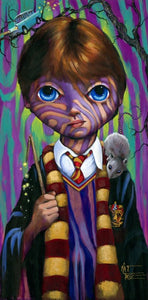 """Big Eye Ron Weasley"" by Kat Tatz PAPER & CANVAS AVAILABLE"