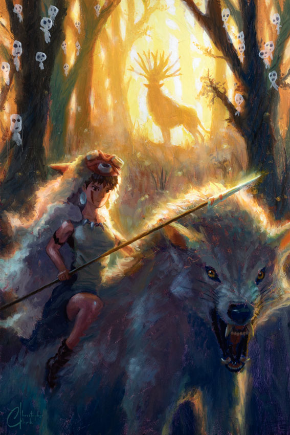 Princess Mononoke by Christoper Clark - PAPER & CANVAS AVAILABLE