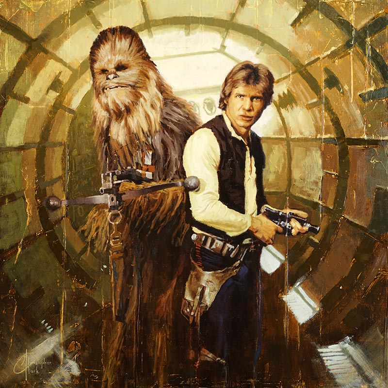 Han and Chewie by Christopher Clark