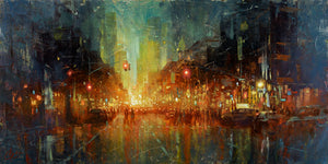 """NYC Central Park West"" by Christopher Clark - PAPER & CANVAS AVAILABLE"