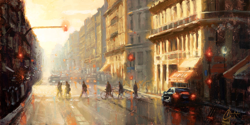 Paris: Crossing the Street by Christopher Clark