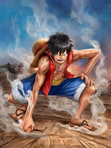 """One Piece - Luffy"" by Dominic Glover - PAPER & CANVAS AVAILABLE"