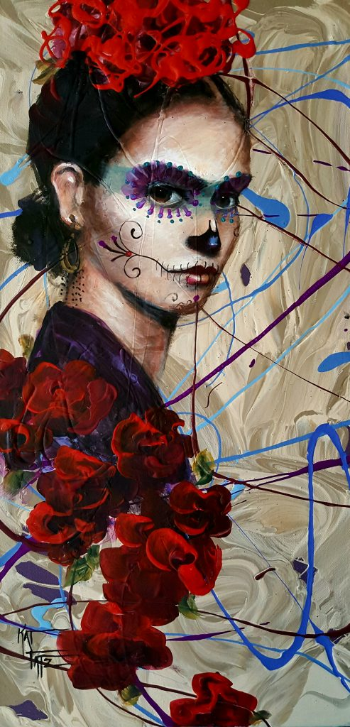 """Roses for Frida"" by Kat Tatz"