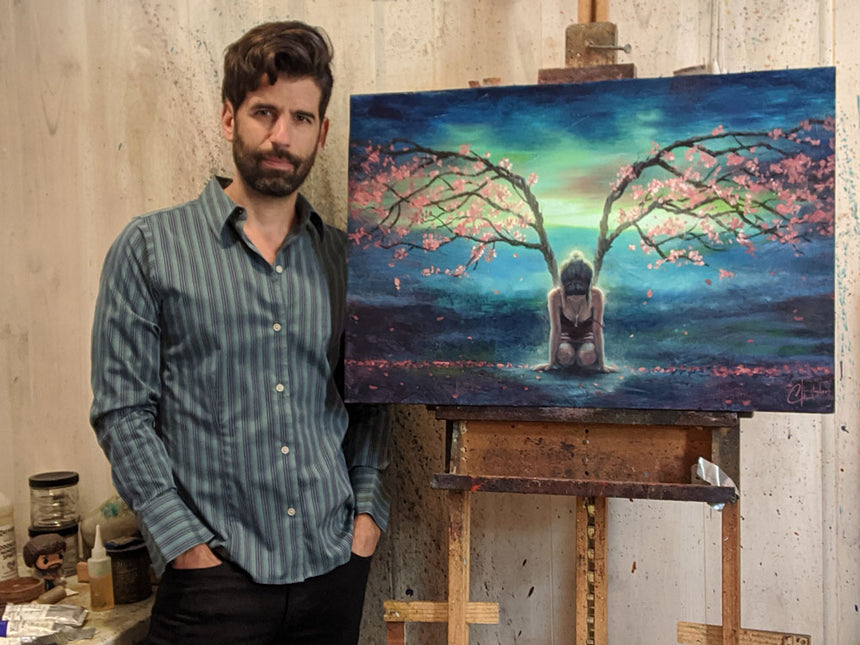 "SOLD Original ""Tree Angel"" 20""x30"" Oil Painting by Christopher Clark"