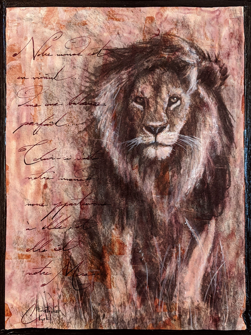 "Original ""Lion King II"" 12""x9"" sketch by Christopher Clark"