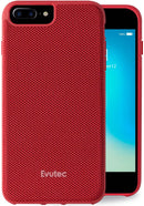 Evutec iPhone 8 Plus/7 Plus/6s Plus/6 Plus Ballistic Nylon Red Honeycomb Interior Drop Protection Case with Magnetic Vent Mount