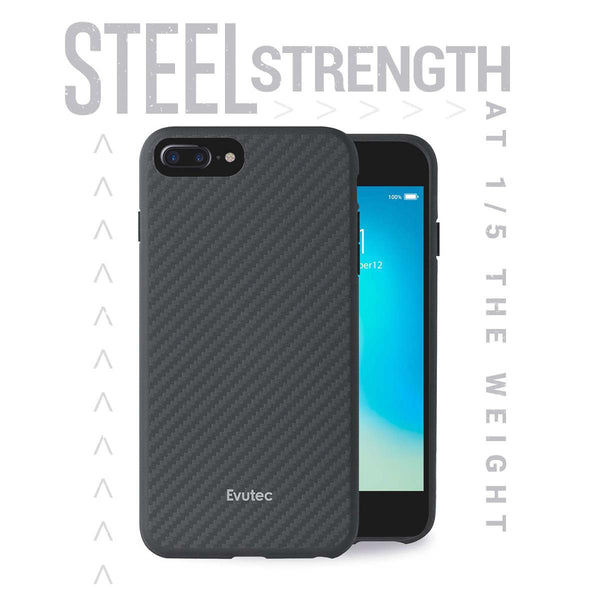 Evutec Slim Light Smooth Case with Vent Mount for iPhone 8 Plus/7 Plus/6s Plus/6 Plus
