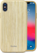 Evutec Bamboo wood slim phone case with Vent Mount for iPhone X/Xs