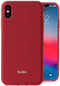 Evutec iPhone X/Xs Ballistic Nylon Red Honeycomb Interior Drop Protection Case with Magnetic Vent Mount