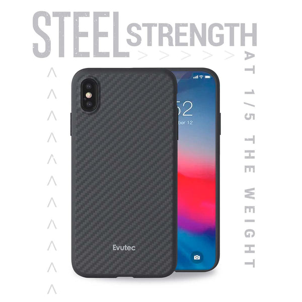Evutec Karbon iPhone X/Xs Slim Light Smooth Real Aramid Fiber Protective Phone Case scratch resistant Durable Cover & Vent Mount