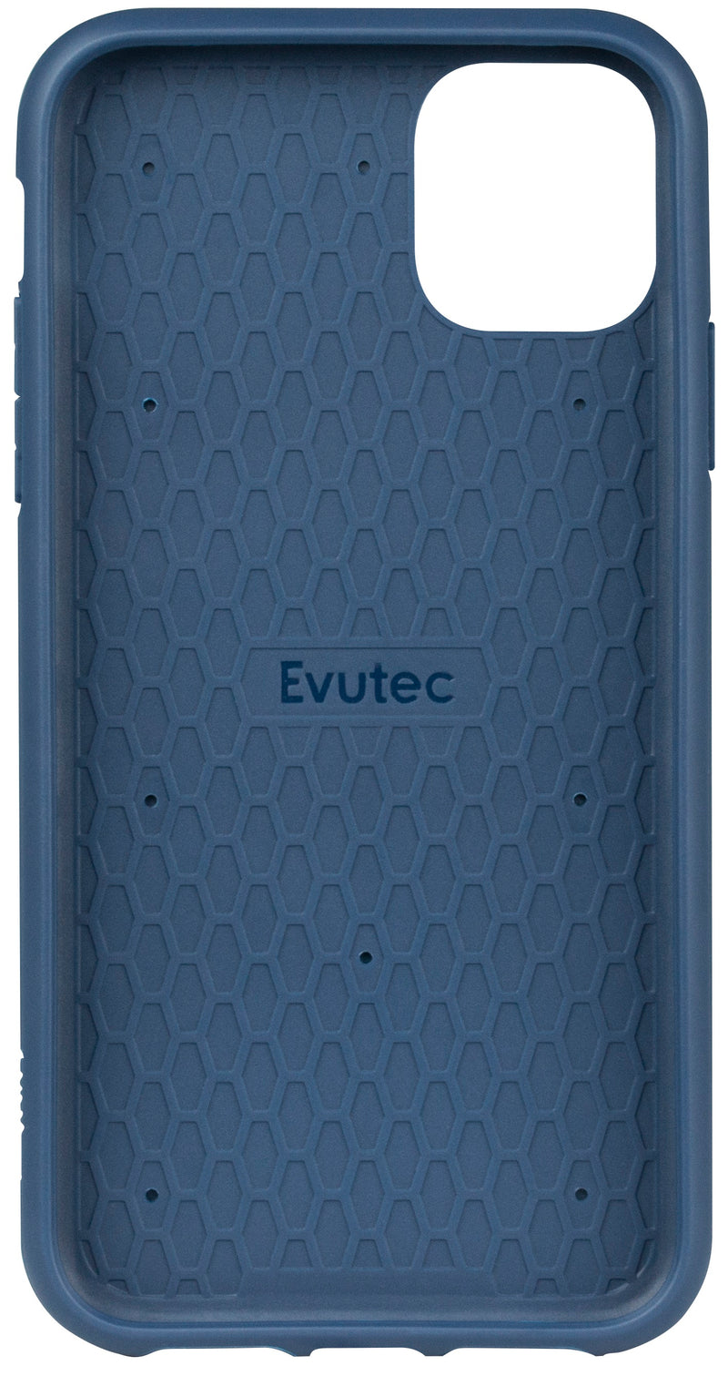 Evutec Ballistic Nylon iPhone 11 Unique Heavy Duty Premium Protective Military Grade Shockproof Phone Case Cover Magnetic Mount Included Blue