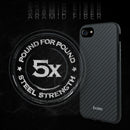 Evutec Karbon iPhone  8/7/6s/6 Slim Light Smooth Real Aramid Fiber Protective Phone Case scratch resistant Durable Cover - Black & Vent Mount