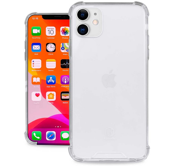 Evutec Karbon Clear Case iPhone 11, Transparent PC Back & Shock Resistant TPU Bumper Slim Protective Light Weight Cover Case 6.1 Inch Crystal Clear