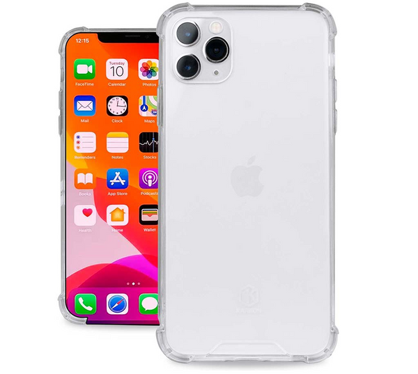 Evutec Karbon Clear Case iPhone 11 Pro Max, Transparent Back & Shock Resistant TPU Bumper Slim Protective Light Weight Cover 6.5 Inch Crystal Clear