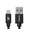 Evutec Karbon MFi Lightning Cable (3.3 ft) Durable and Fast Charging [Aramid Fiber & Double Braided Nylon] [1 pack]