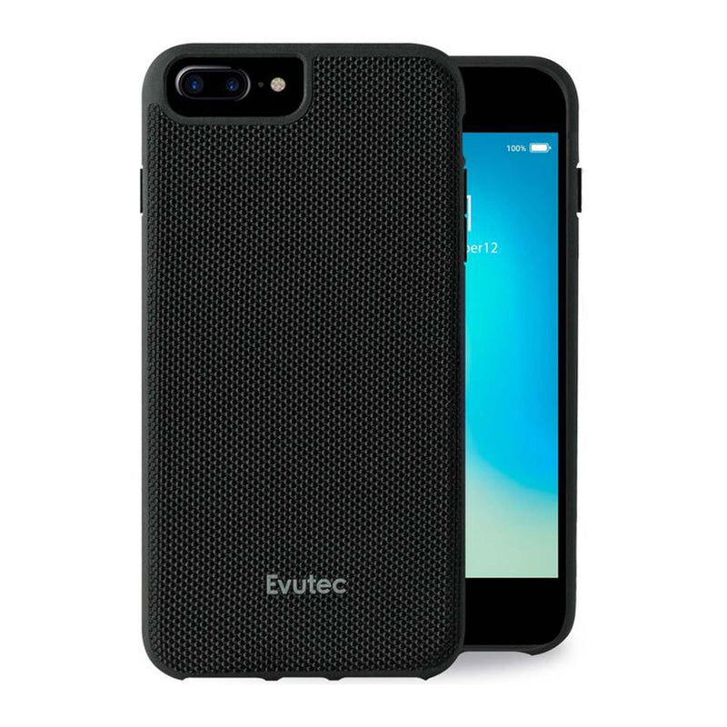 Evutec iPhone 8 Plus/7 Plus/6s Plus/6 Plus Ballistic Nylon Honeycomb Interior Drop Protection Case with Magnetic Vent Mount
