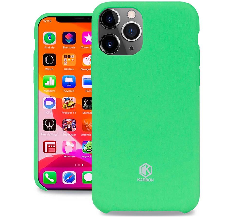Evutec Karbon Silicone Case iPhone 11 Pro Ultra Thin & Protective Shockproof Drop Protection Soft Cover 5.8 Inch Six Colors