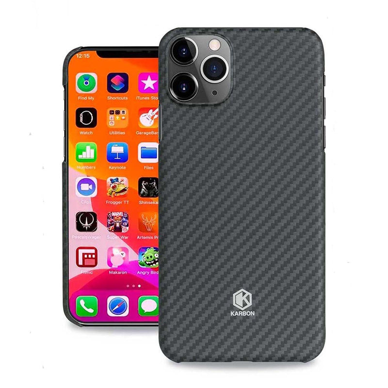 Karbon Slim Light Smooth Real Aramid Fiber Protective Case for iPhone 11 Pro Max
