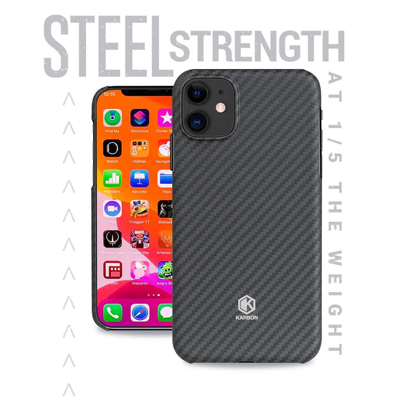 Karbon Slim Light Smooth Real Aramid Fiber Protective Case for iPhone 11
