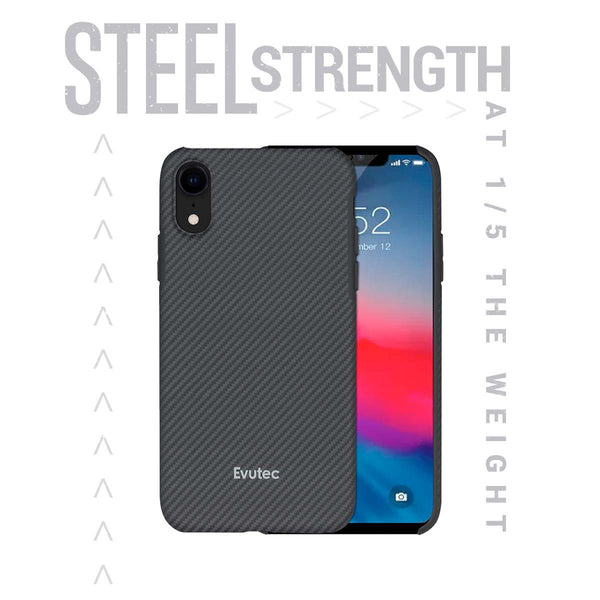 Evutec Slim Light Smooth Real Aramid Fiber Protective Case for iPhone Xr