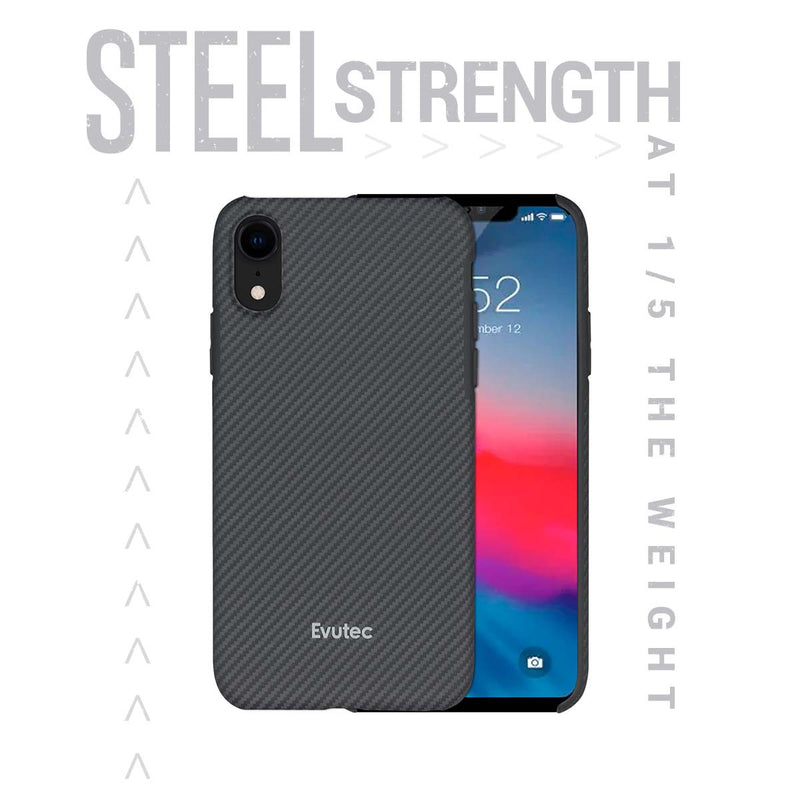 Karbon SP iPhone XR Thin 0.7mm Slim Light Smooth Real Aramid Fiber Protective Phone Case scratch resistant Durable Cover - Black