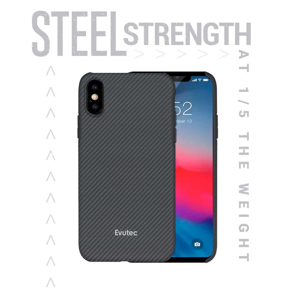 Evutec Slim Light Smooth Real Aramid Fiber Protective Case for iPhone XS Max