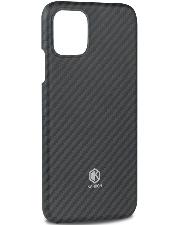 Karbon Value iPhone 11 6.1 inch, Thin 0.7mm Slim Light Smooth Real Aramid Fiber Protective Phone Case scratch resistant Durable  Cover - Black