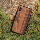 Evutec Burmese Rosewood Case with AFIX+ Magnetic Mount for iPhone Xs Max