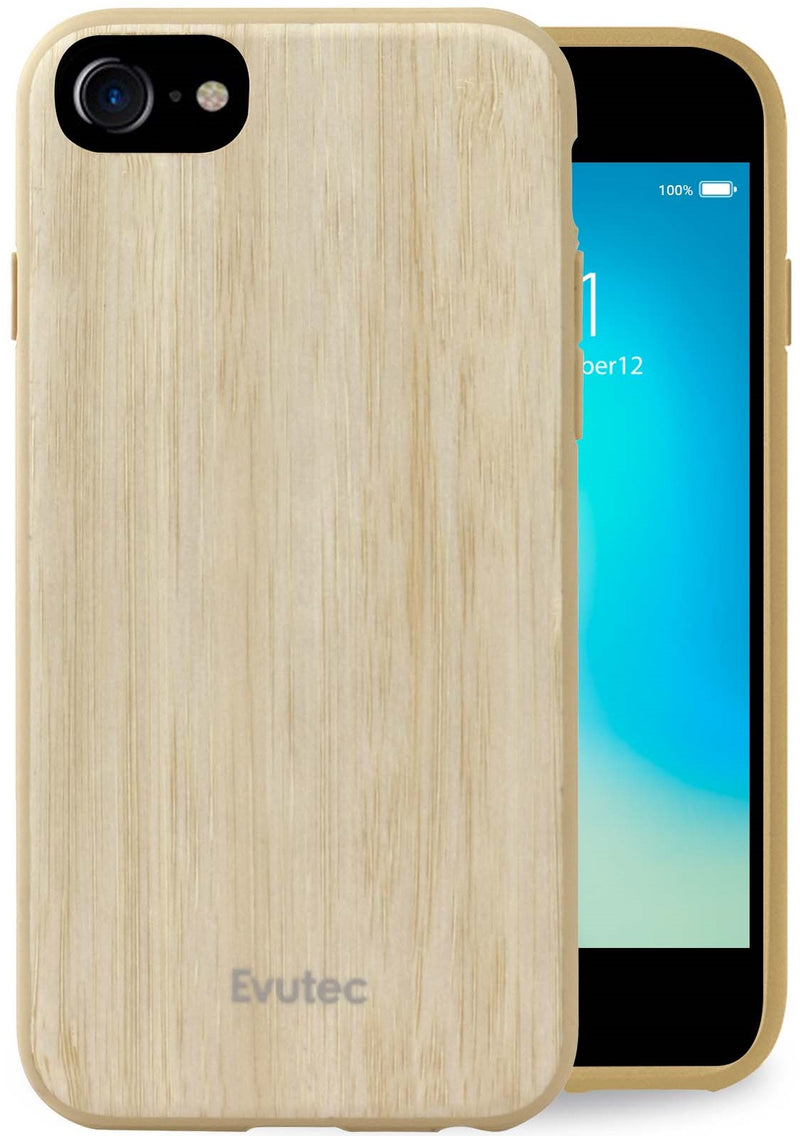 Evutec Case Compatible with iPhone 6 /6s /7 /8 , wood thin slim lightweight protective durable case cover-Bamboo (AFIX+ Vent Mount Included)