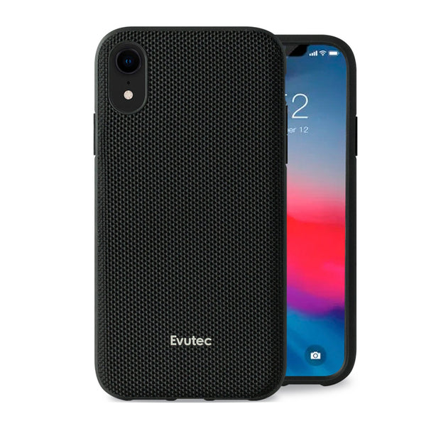 Evutec iPhone Xr Ballistic Nylon Honeycomb Interior Drop Protection Case with Magnetic Vent Mount