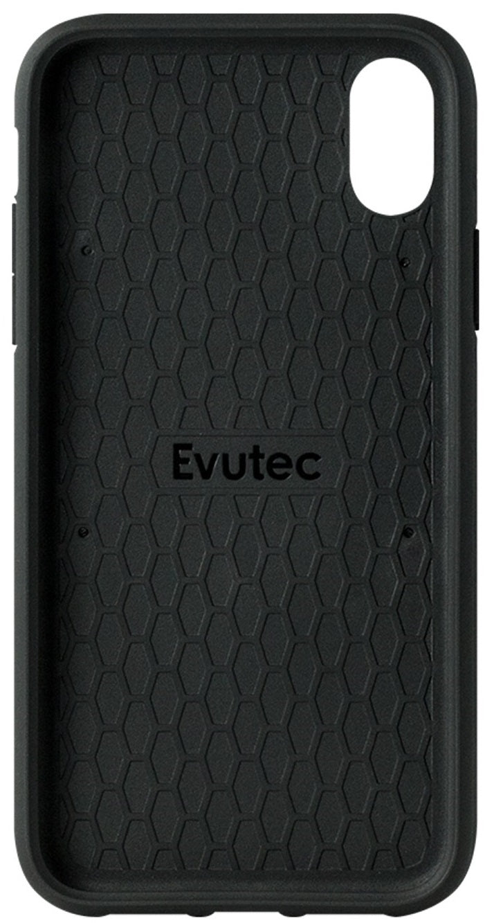Evutec iPhone Xs Max Canvas/Black Premium Leather, Fabric Drop Protection Case with Magnetic Vent Mount