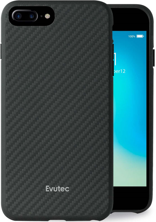 Evutec Karbon iPhone  8 Plus/7 Plus/6s Plus/6 Plus Slim Light Smooth Real Aramid Fiber Protective Phone Case scratch resistant Cover & Vent Mount