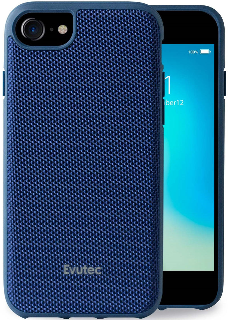 Evutec iPhone 8/7/6S/6 Ballistic Nylon Blue Honeycomb Interior Drop Protection Case with Magnetic Vent Mount