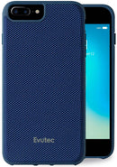 Evutec iPhone 8 Plus/7 Plus/6s Plus/6 Plus Ballistic Nylon Blue Honeycomb Interior Drop Protection Case with Magnetic Vent Mount