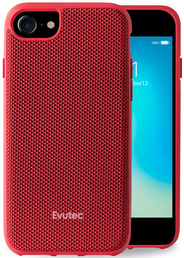 Evutec iPhone 8/7/6s/6 Ballistic Nylon Red Honeycomb Interior Drop Protection Case with Magnetic Vent Mount