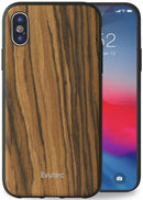 Evutec Burmese Rosewood Case with AFIX+ Magnetic Mount for iPhone X/Xs