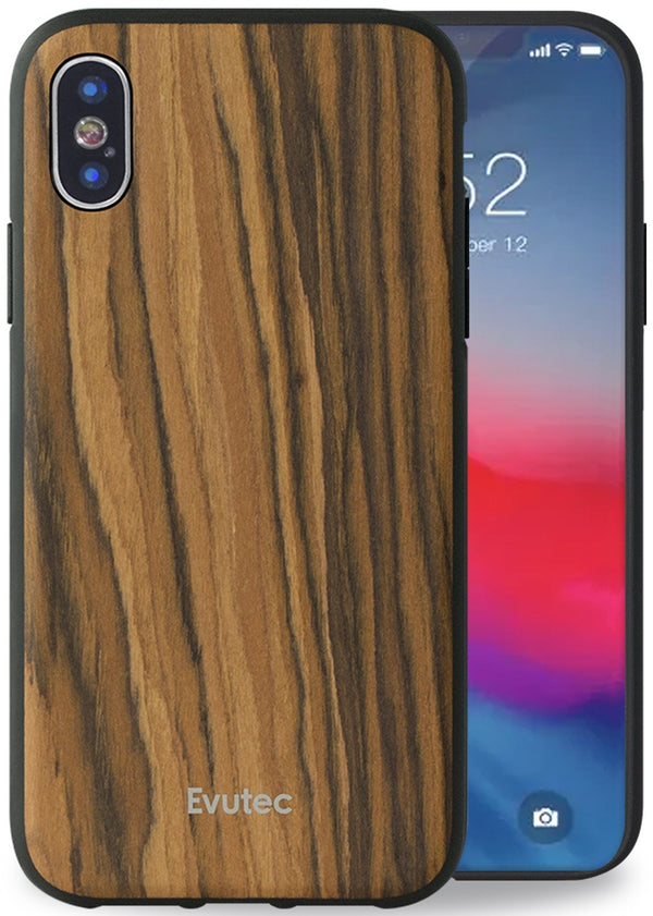AER Series iPhone Xs Max Wood Burmese Rosewood (AFIX+ Magnetic Mount Included)