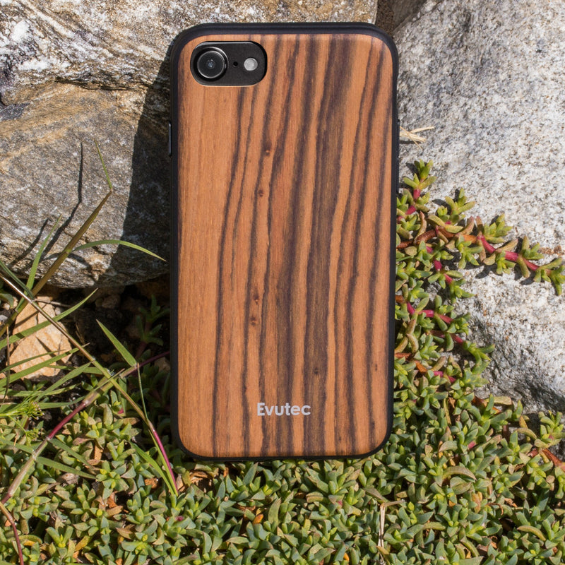 Evutec Burmese Rosewood Case with AFIX+ Magnetic Mount for iPhone SE 2020/8/7/6s/6