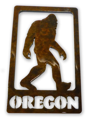 Bigfoot in frame with Oregon - Magnet